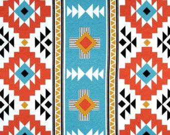 Aztec Jersey Knit & Minky Throw Blanket