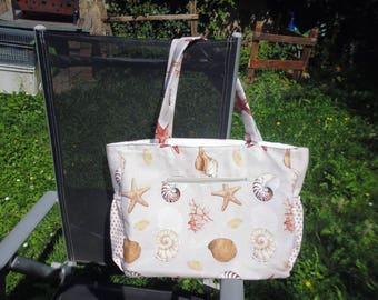tote bag large capacity shells pattern