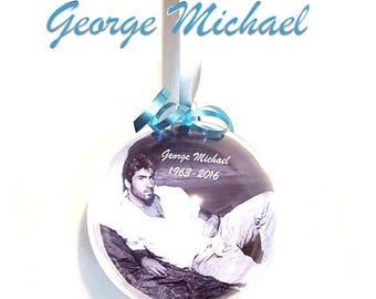 Custom George Michael Christmas Baubles,Decorations,Xmas Gift,Last Christmas,Remembrance,Tribute