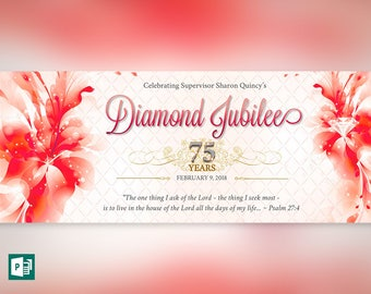 Scarlet Diamond Jubilee Bookmarker Publisher Template (10 Gold Nugget Digits Included)