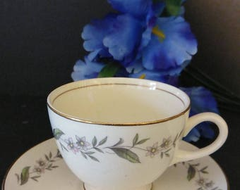 Homer Laughlin **CUP AND SAUCER *Gardenia**PreOwned   Mid Century Modern