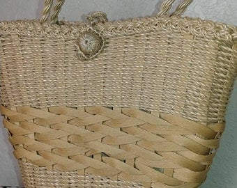 Vintage Woven Basket Purse made in Japan
