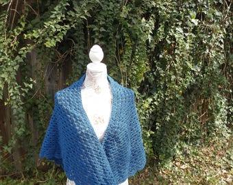 Double Hug Prayer Shawl in blue