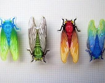 Handmade Cicada Badge