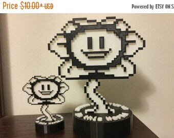 SUMMER SALE Good and Evil Flowey , Undertale , Two sides , complete with stand.