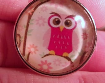 NEW!! 18mm Owl Snap Charm-Noosa Snaps- Noosa Chunks- Chunk Snaps- Noosa Style- Noosa Earrings- Noosa Jewelry- GingerSnap- Snap Jewelry