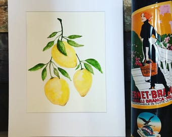 Lemon leaf painting