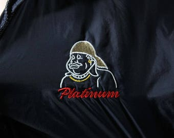 Vintage 90s Fat Albert Jacket // Platinum Fubu Knockoff // Windbreaker Jacket // Small