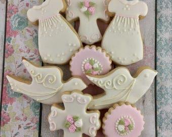 Baptism Cookies, Christening, Baptism, Baby Girl, Dessert Table, Baby Shower Cookies