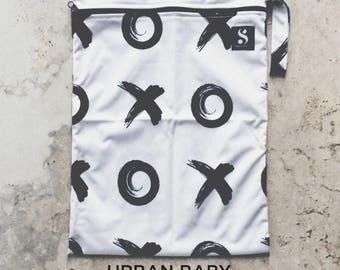 XOXO Wet Bag, Diaper Storage Bag, Travel Bag, Swim Bag, Waterproof Bag, Nappy Bag, Cloth Diaper Bag, TPU, Modern, Diaper Cover