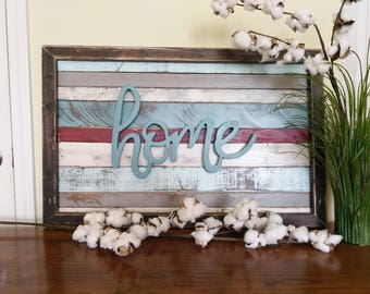 Rustic Reclaimed Home Sign