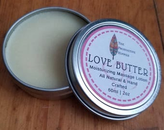 Love Butter Massage Lotion | All Natural & Skin Nourishing | Massage Butter | Couple's Massage | Preservative Free