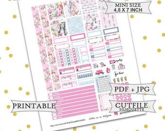 50% OFF SALE Hello Captain Planner Stickers/Mini Happy Planner Stickers/Printable Planner Stickers/Printable Mini Happy Planner Weekly kit/N