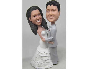 Custom wedding cake topper, personalized wedding cake topper, Bride and groom cake topper, Mr and Mrs cake topper