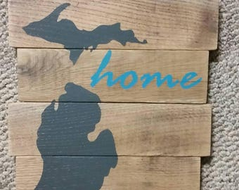 Michigan Wood Wall Decor