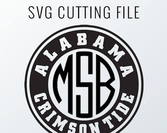 Texas Tech  Monogram Frame Cutting Files in Svg, Eps, Dxf, Png for Cricut & Silhouette | Red Raiders Vector | College Graphics | Mississippi