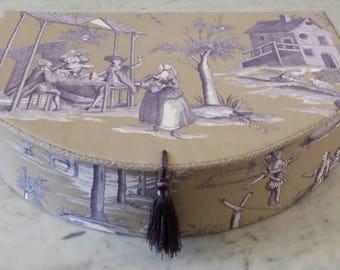 Box, Decorative Box, Toile de Jouy, Storage Box, 18th century style, jewelry box
