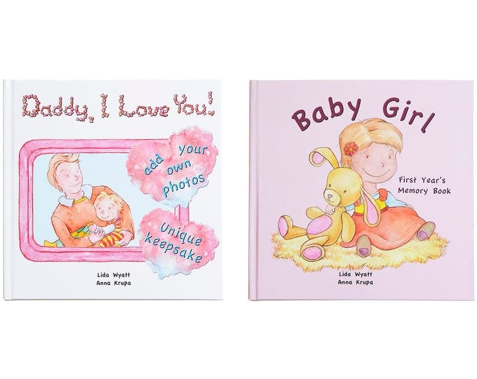 Daddy, I Love You! & Baby Girl Bundle- Choose from 3 Hair/Skin Colour Options