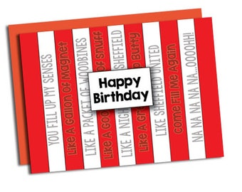 Sheffield United themed greetings cards Choose from 7 designs