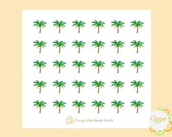 Palm Tree Stickers, Erin Condren Life Planner