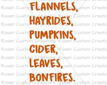Fall Svg. Pumpkins. Leaves. Bonfires. Hayrides. Pumpkin patch. cider.