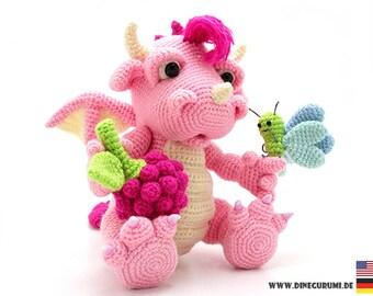 Raspberry dragon crochet pattern