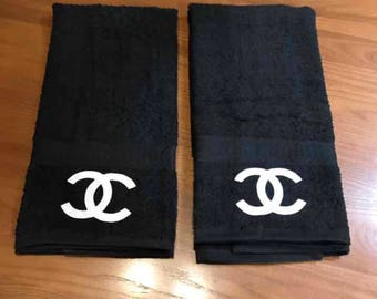 Chanel hand towels