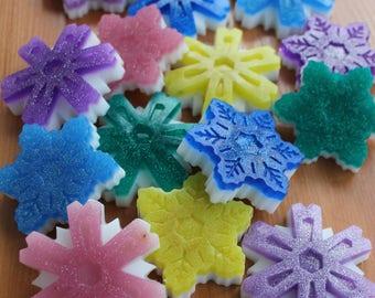 Gift soaps Christmas Snowflakes Snowflakes gift soaps Christmas gift soaps Christmas Snowflake Snowflake soap Scented soaps Snowflakes Gift