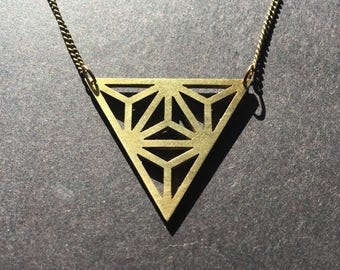 Triangles - pendant necklace