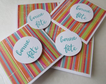 """Mini Greeting card """"Colorful Lines"""""""