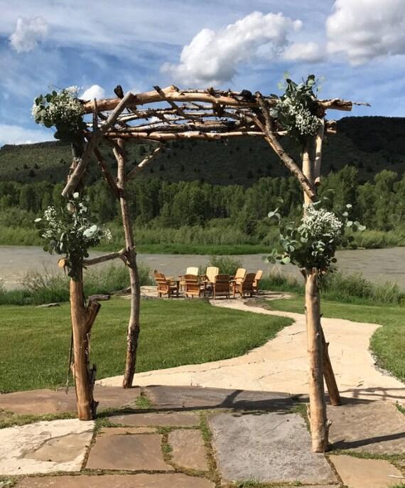Rustic Wedding Arbors: Cottonwood Wedding Arbor Rustic Arbor Garden Trellis