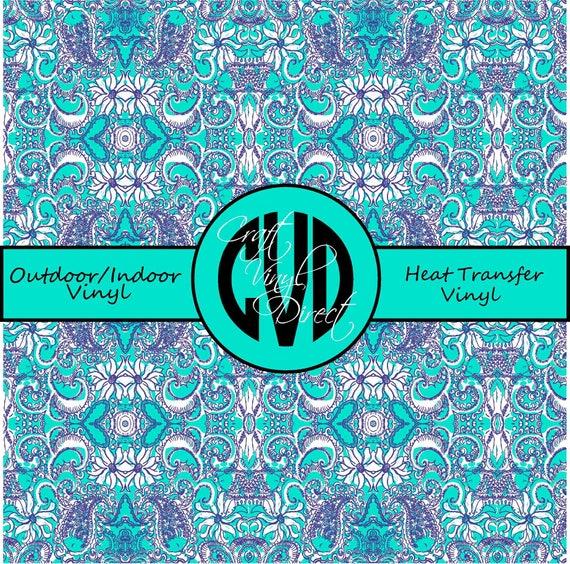 Beautiful Patterned Vinyl // Patterned / Printed Vinyl // Outdoor and Heat Transfer Vinyl // Pattern 113