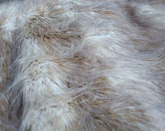 Forest feather Faux Fur fabric