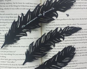 No Mourners No Funerals, Six of Crows-inspired feather papercut