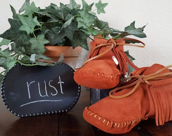 Moccasins, Leather, Suede, Handmade
