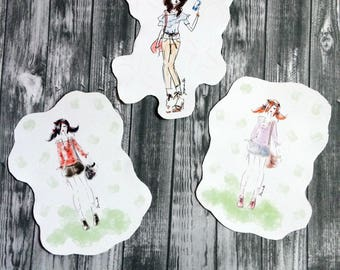 Colorful Fashion Stickers- Matte
