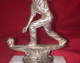 "MEN'S BOWLING Trophy Topper 5"" Wellich INC. Bridgport, Conn"