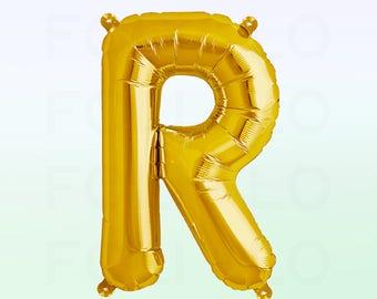 Metallic Gold Letter R Balloon | Gold R Balloon | Gold Letter R Balloon | Jumbo Letter R Balloon