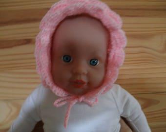 bonnet girl vintage tender 1 month in pink