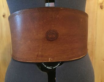 Brown Leather Waist Cinch / Corset Belt