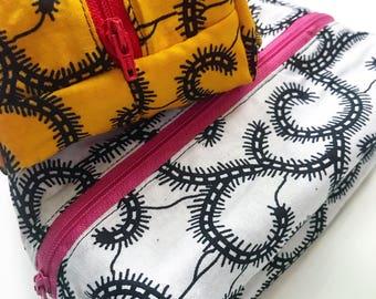Pencil Case / Makeup Bag / African Print Zippered Pouch
