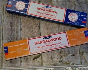Nag Champa, Sandalwood, Reiki Power Agarbatti Satya Sai Baba 15g (12 sticks)