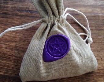 Burlap Carry Bag w/Pentacle