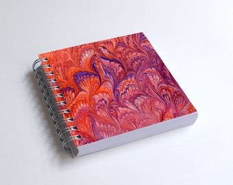 "Notebook 4x4"" decorated with motifs of marbled papers - 7"