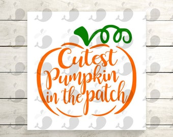 Cutest Pumpkin In The Patch Iron On Decal, Cutest Pumpkin In The Patch Heat Transfer Decal