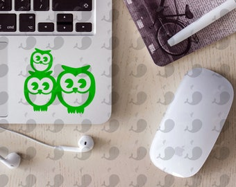 Owl Family Car Decal, One Child
