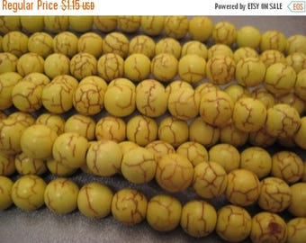 ON SALE 15% OFF Neon Yellow Magnesite Beads Round 10mm 42pcs
