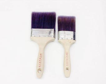 """Superior Quality Large Paint Brushes - 4"""" Large Flat - 3"""" Medium Oval - 2"""" Small Oval - The best paint brush for cutting in"""