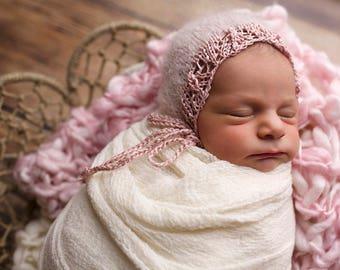 Pink quarz newborn bonnets, newborn bonnet, newborn props , newborn prop,photography props, newborn hat , newborn props