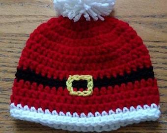 Christmas hat, baby hat, kids hat, crochet hat